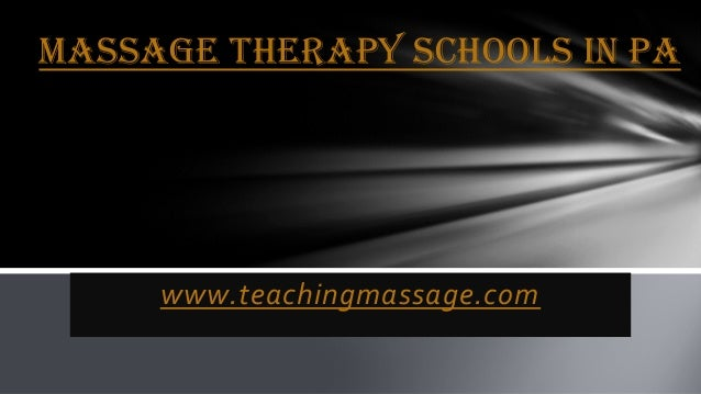 Massage Therapy Schools In Pa