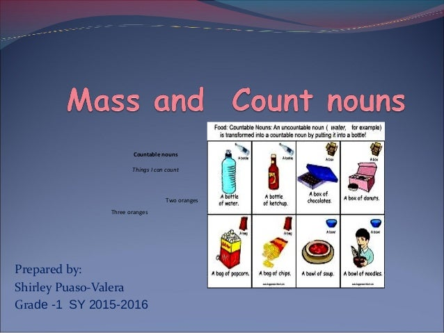 Count nouns and mass nouns: crops, produce, and the plural of seed.