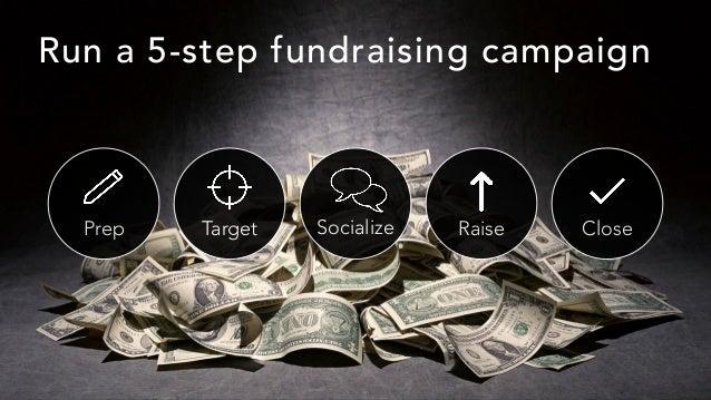 Prep Target Socialize Raise Close Run a 5-step fundraising campaign