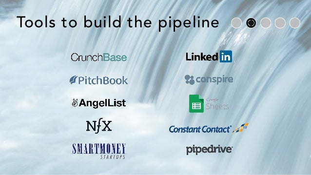 Tools to build the pipeline
