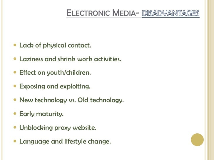 importance of electronic media in communication