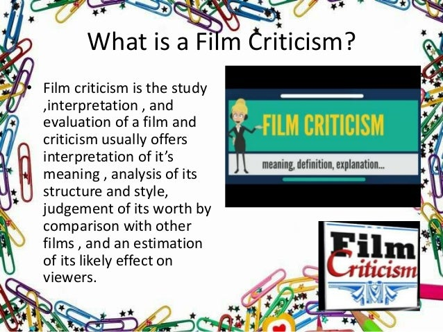 Mass Communication And Media Studies Film Review And Criticism