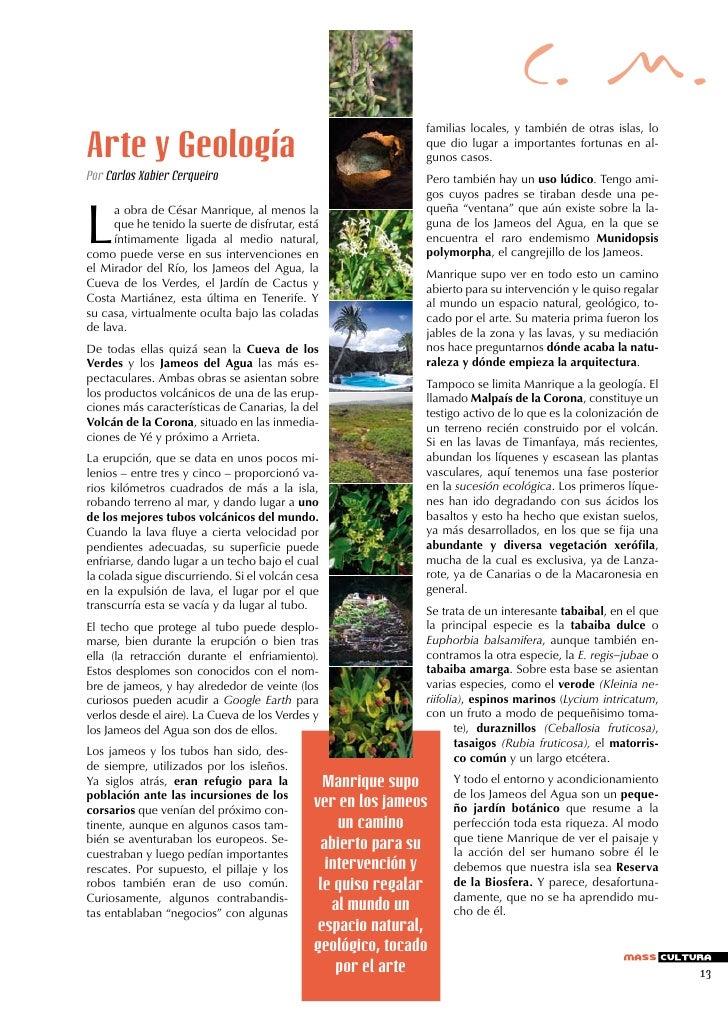 C. M.Arte y Geología                                          -Por Carlos Xabier Cerqueiro                              - ...
