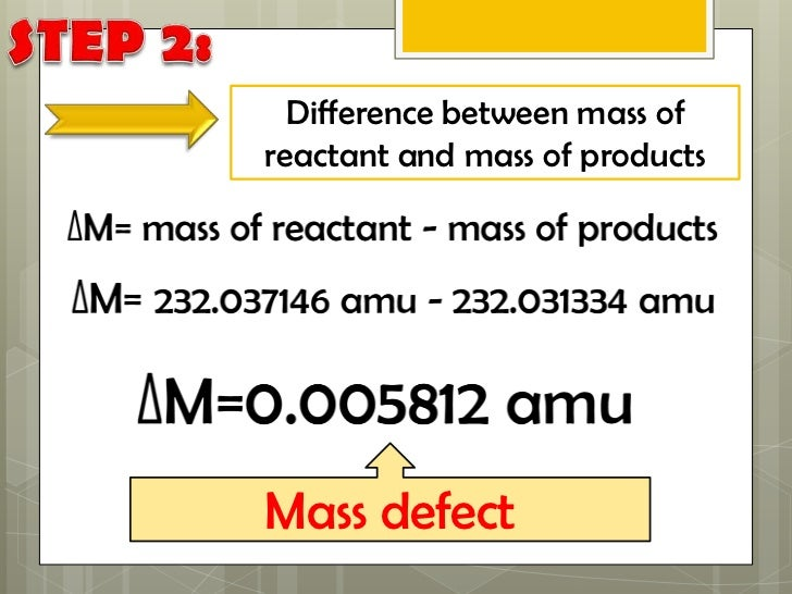 how to find mass defect and binding energy