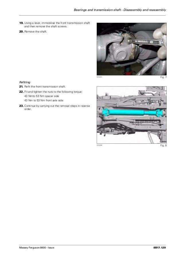 Massey ferguson mf 8660 tractor service repair manual