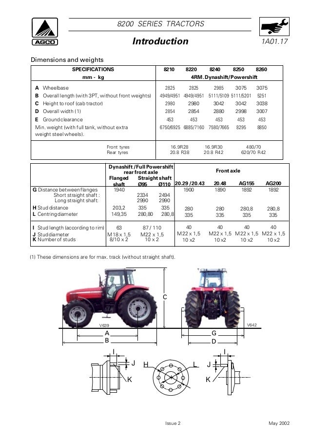 Massey ferguson mf 8260 tractor service repair manual