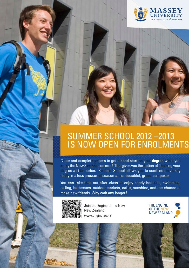 SUMMER SCHOOL 2012 –2013    IS NOW OPEN FOR ENROLMENTSCome and complete papers to get a head start on your degree while yo...