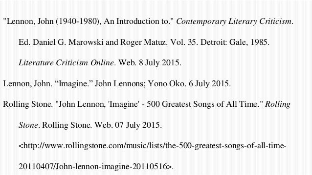 an introduction to the analysis of imagine by john lennon Search results for 'imagine by john lennon' john lennon's imaginary world john joseph m rodulfo mr arnel francis galang jr english 10 19 october 2009 john lennon's imaginary world (a song analysis of imagine by john lennon.
