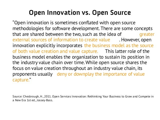 open versus closed innovation Discover in this article open innovation 's founding principles and  transition  from closed innovation paradigm to open innovation's one.