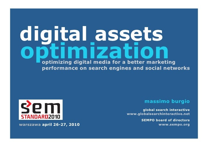 digital assets optimization          optimizing digital media for a better marketing          performance on search engine...