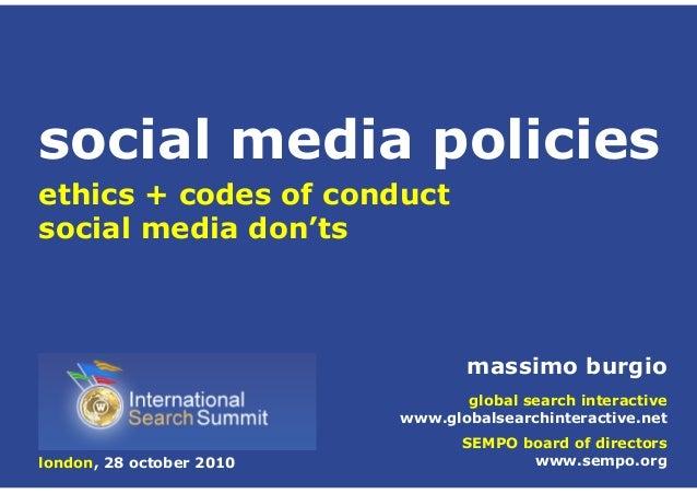 massimo burgio global search interactive www.globalsearchinteractive.net SEMPO board of directors www.sempo.org ethics + c...