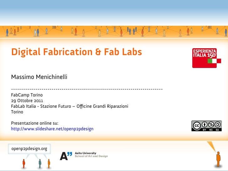 Digital Fabrication & Fab LabsMassimo Menichinelli------------------------------------------------------------------------...