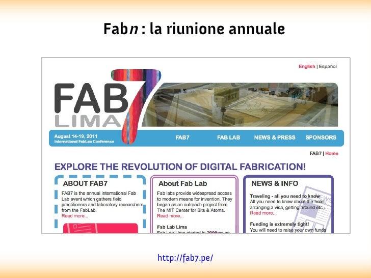 Fabn : la riunione annuale       http://fab7.pe/