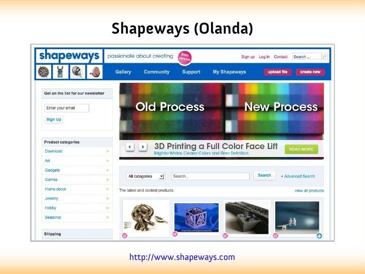 Shapeways (Olanda)  http://www.shapeways.com