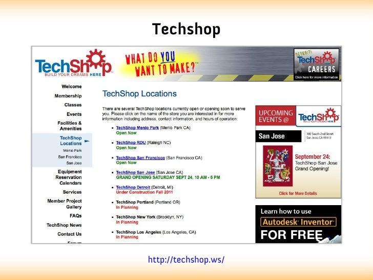 Techshophttp://techshop.ws/