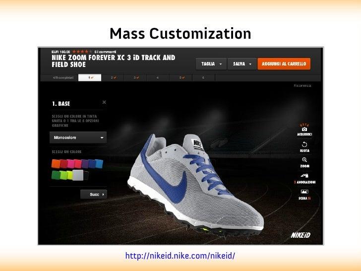 Mass Customization  http://nikeid.nike.com/nikeid/