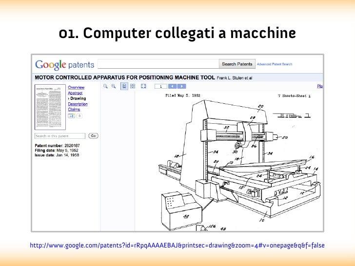 01. Computer collegati a macchinehttp://www.google.com/patents?id=rRpqAAAAEBAJ&printsec=drawing&zoom=4#v=onepage&q&f=false