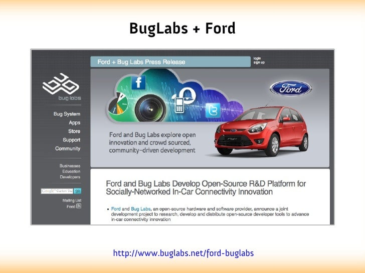 BugLabs + Fordhttp://www.buglabs.net/ford-buglabs