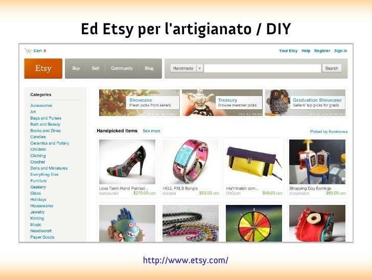 Ed Etsy per lartigianato / DIY         http://www.etsy.com/