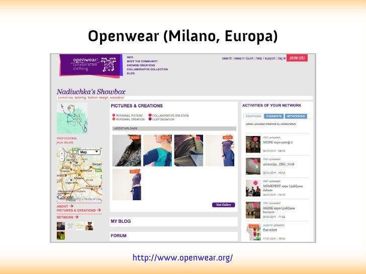 Openwear (Milano, Europa)     http://www.openwear.org/