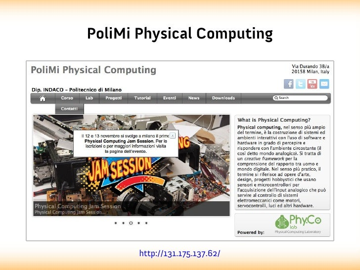 PoliMi Physical Computing       http://131.175.137.62/