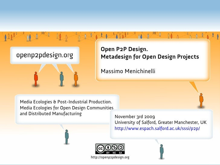 Open P2P Design.                                         Metadesign for Open Design Projects                              ...