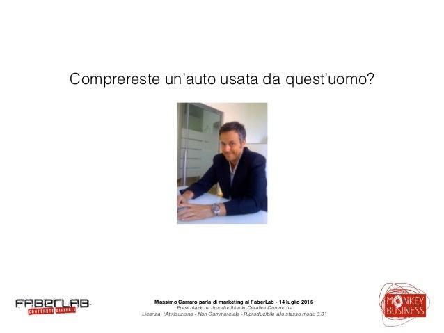 Massimo Carraro al Faberlab Varese - 14 luglio 2016 Slide 2