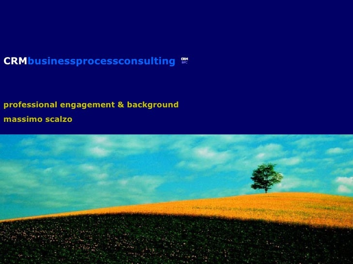 CRM businessprocessconsulting professional engagement & background massimo scalzo