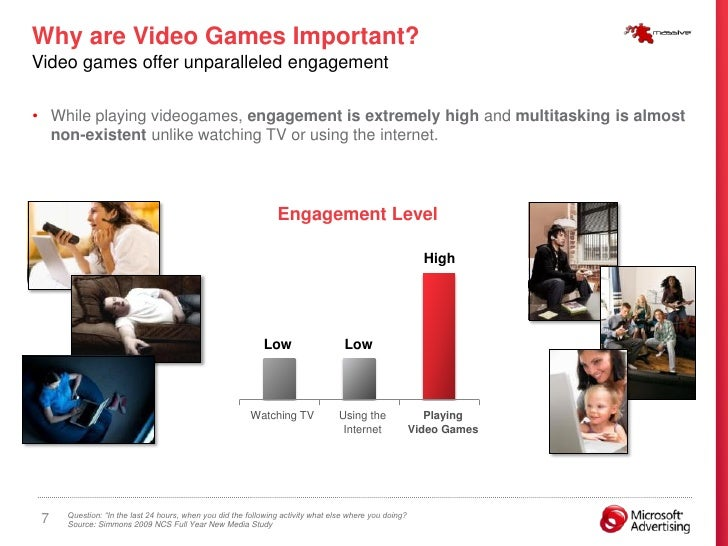 Why are Video Games Important? Video games offer unparalleled engagement  • While playing videogames, engagement is extrem...