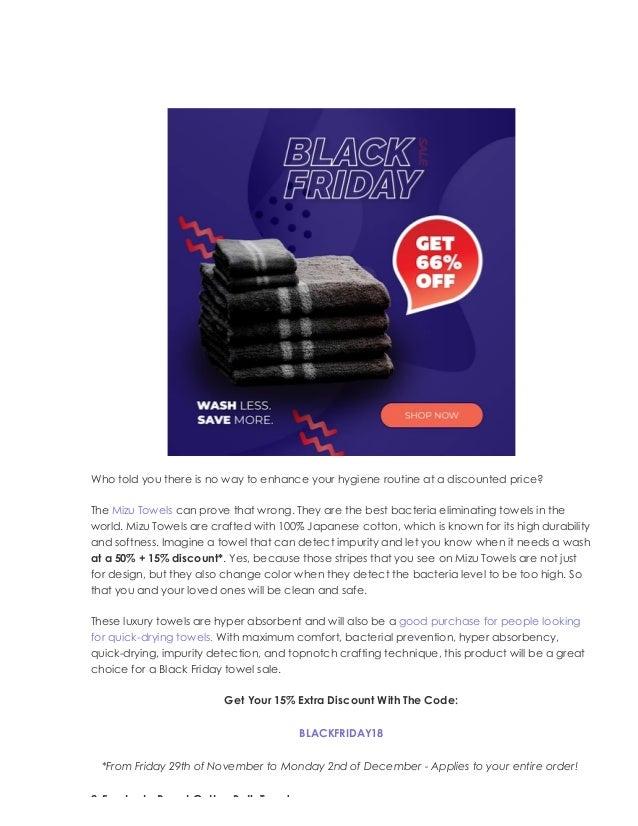 Massive Black Friday Sale On All Bath Towels