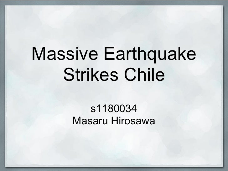 Massive Earthquake   Strikes Chile       s1180034    Masaru Hirosawa