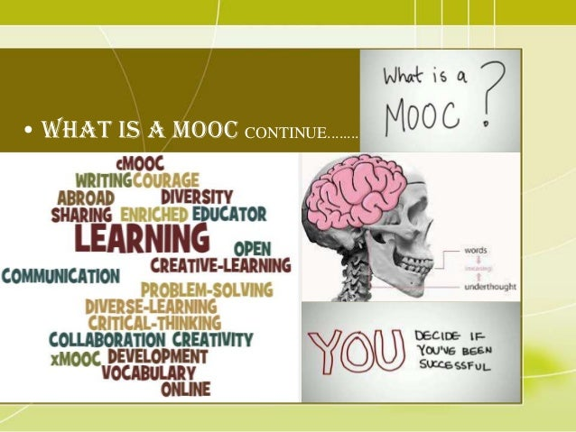 massive open online course creative writing A massive open online course (mooc /muːk/) is an online course aimed at unlimited participation and open access via the web in addition to traditional course materials such as filmed lectures, readings, and problem sets, many moocs provide interactive user forums to support community interactions among students.