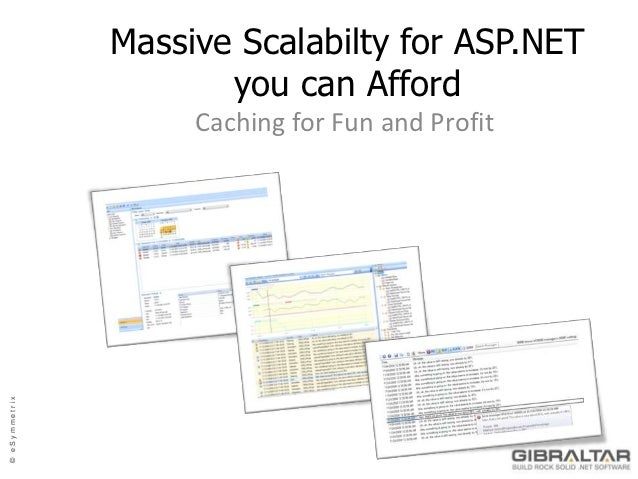 Massive Scalabilty for ASP.NET                      you can Afford                    Caching for Fun and Profit© eSymmetrix