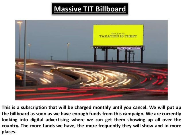 Massive Tit Billboard This Is A Subscription That Will Be Charged Monthly Until You Cancel