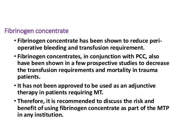 Massive transfusion protocol
