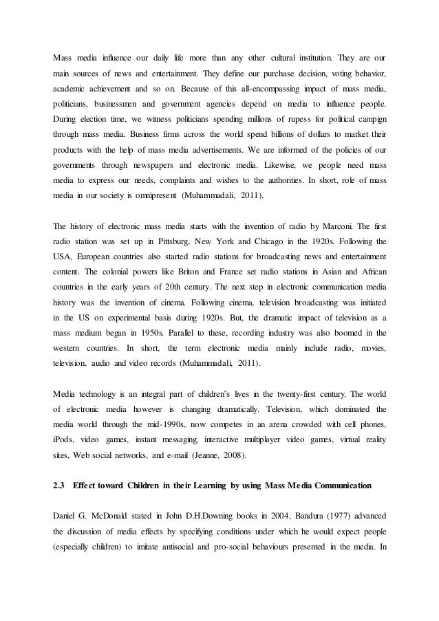 television essay for 8th class