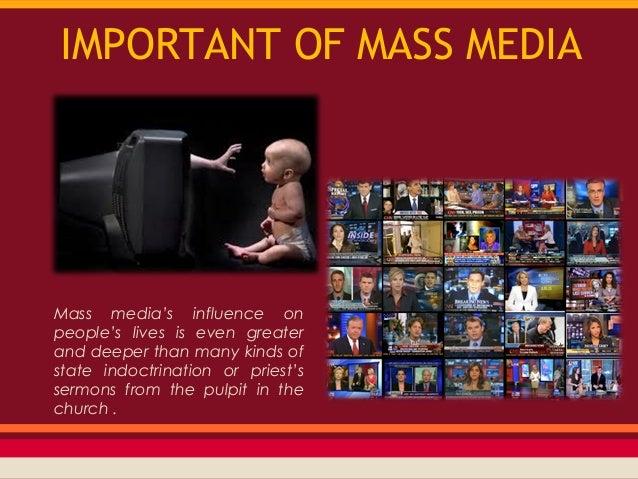 Mass media: Essay on the Evolution of Mass media
