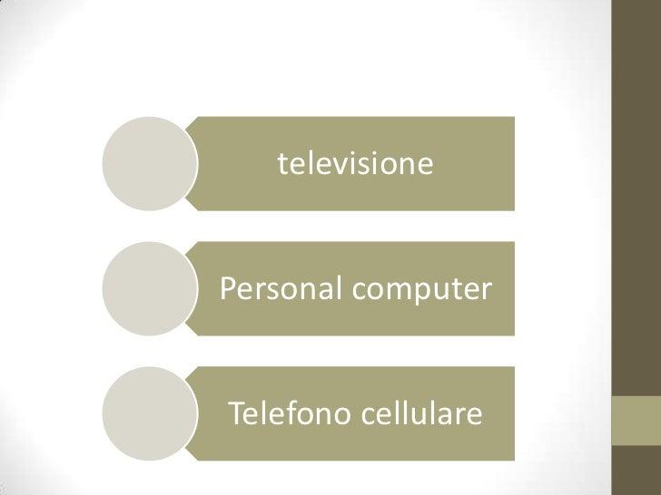 televisionePersonal computerTelefono cellulare