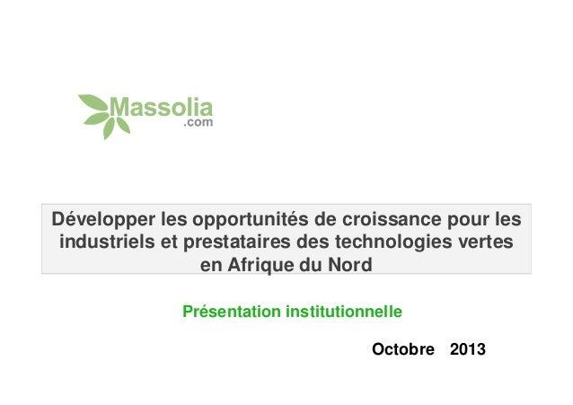Développer les opportunités de croissance pour les industriels et prestataires des technologies vertes en Afrique du Nord ...