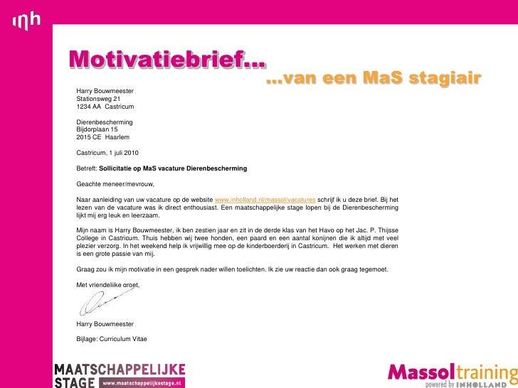 Indeling Motivatiebrief | hetmakershuis