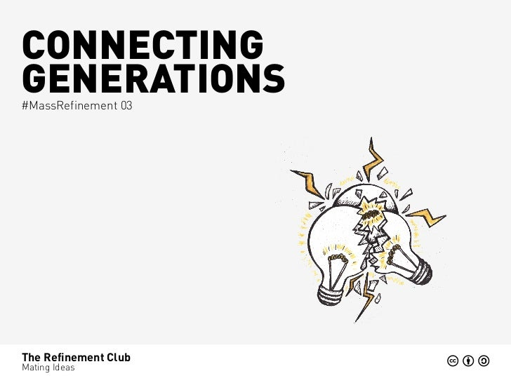 CONNECTINGGENERATIONS#MassRefinement 03The Refinement ClubMating Ideas