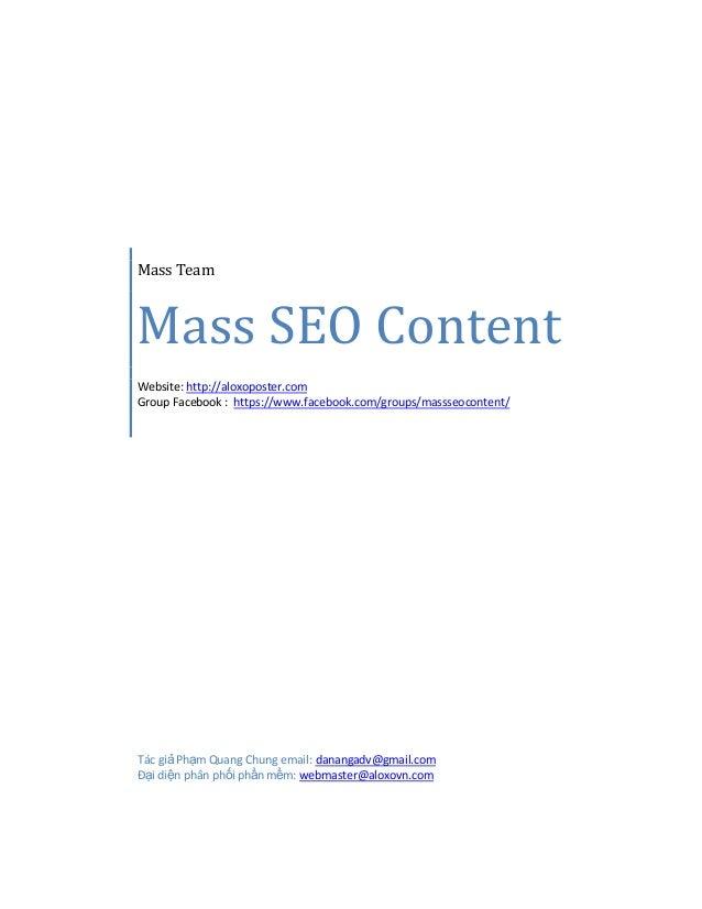 Mass Team Mass SEO Content Website: http://aloxoposter.com Group Facebook : https://www.facebook.com/groups/massseocontent...