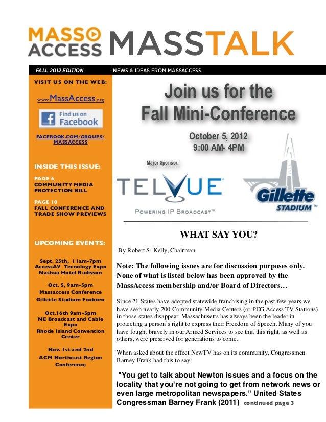 Mass Talk Fall 2012