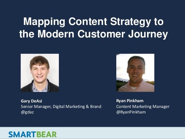 Mapping Content Strategy to the Modern Customer Journey Gary DeAsi Senior Manager, Digital Marketing & Brand @gdaz Ryan Pi...
