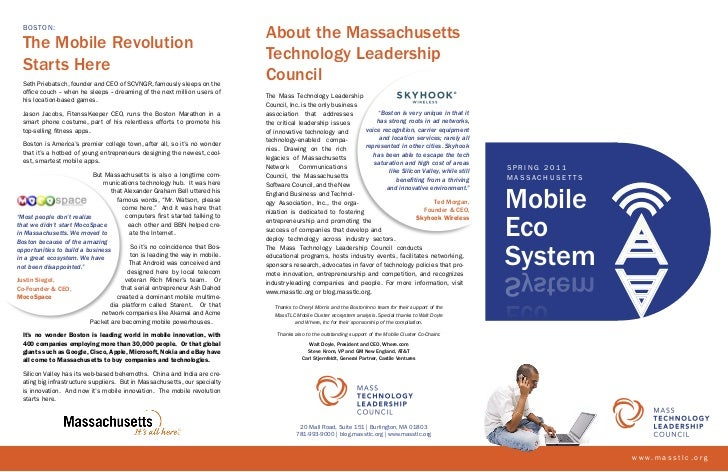 BOSTON:                                                                              About the Massachusetts  The Mobile R...