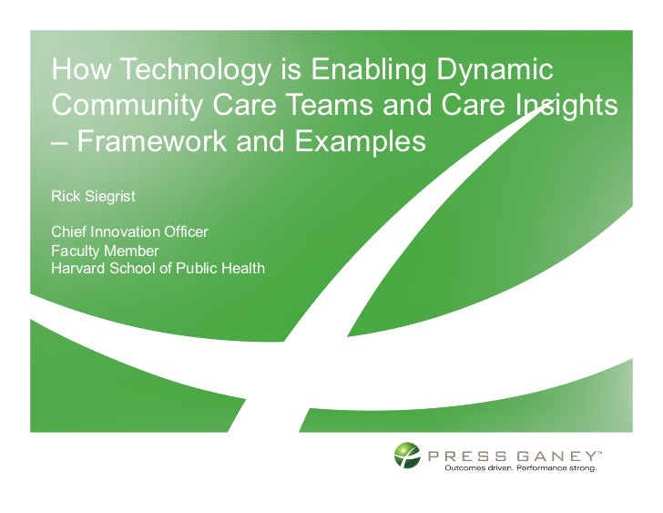 How Technology is Enabling DynamicCommunity Care Teams and Care Insights– Framework and ExamplesRick SiegristChief Innovat...