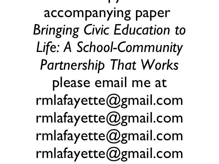 Bringing Civic Education to Life