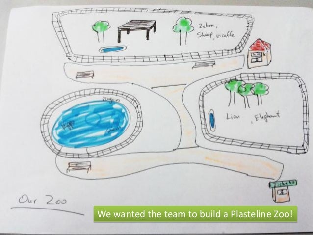We wanted the team to build a Plasteline Zoo!