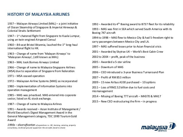 strategic objectives of malaysia airlines Malaysia airlines new network strategy: expansion to resume in 2017, with focus on china and india.