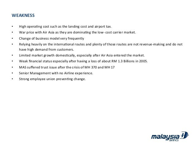 malaysia airlines assignment